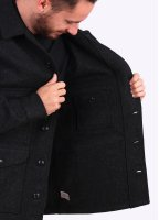 Filson Wool Mackinaw Cruiser Coat - Charcoal