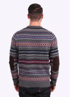 Barbour Heritage Caistown Fair Isle Lambswool Jumper - Storm Grey