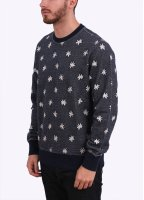 Paul Smith Floral Print Sweater - Navy Blue