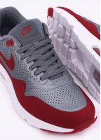 Nike Footwear Air Max 1 Ultra Moire Trainers - Metallic Cool Grey / Gym Red