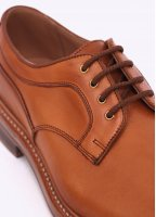 Trickers by Triads 1001 Plain Derby Shoes - Burnished Tan