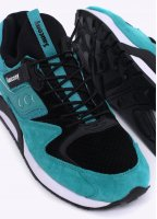 """Saucony Grid 9000 """"Bungee"""" Trainers - Green/Black"""