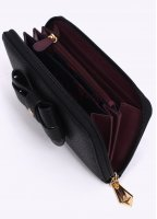 Vivienne Westwood Accessories Foglio Bow Purse - Black