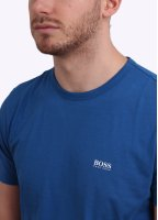 Hugo Boss Green Logo Tee - Blue / White