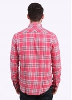 Paul Smith Long Sleeve Tailored Fit Check Shirt - Pink
