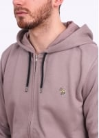 Paul Smith Zip Front Hoody - Slate