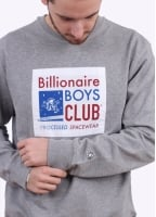 Billionaire Boys Club Processed Reversible Crew Sweatshirt - Heather Grey