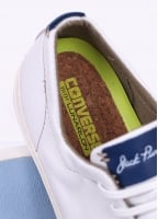 Converse Jack Purcell Ox Tumbled Leather - White / Egret