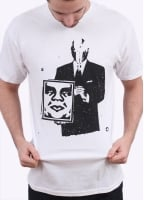 Obey Corporate Violence Tee - White