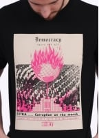 Obey X Jamie Reid Democracy Gasps For Air Tee - Black