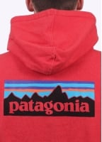 Patagonia P-6 Logo Zip Hoodie - French Red