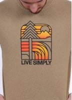 Patagonia Live Simply Landscape Tee - Woodland Tan