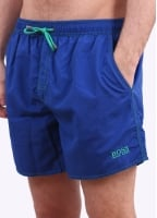 Hugo Boss Lobster Shorts - Medium Blue