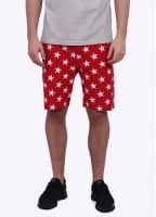 Champion Reverse Weave Allover Star Print Shorts - Red