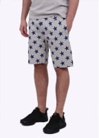 Champion Reverse Weave Allover Star Print Shorts - Grey