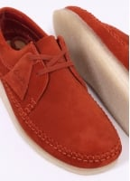 Clarks Originals Weaver Suede Shoes - Rust