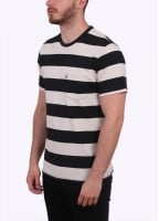 Levi's Red Tab Thick Stripe Tee - Caviar