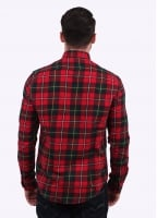 Barbour Sea Mill Check Shirt - Rich Red