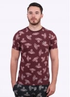 Vivienne Westwood Anglomania Jeans Time Machine Tee - Burgundy