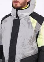 Stone Island Resin-T Shell Ice Down Jacket - Green / Black