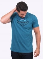 Patagonia Fitzroy Crest T Shirt - Deep Sea Blue