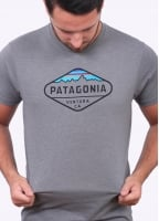 Patagonia Fitzroy Crest T-Shirt - Narwhal Grey