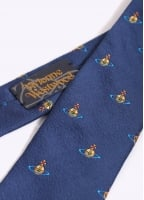 Vivienne Westwood Accessories Orb Pattern Tie - Navy