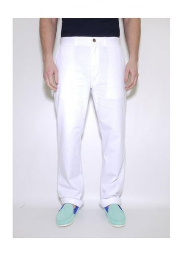 Maison Kitsune New Chino Trousers White