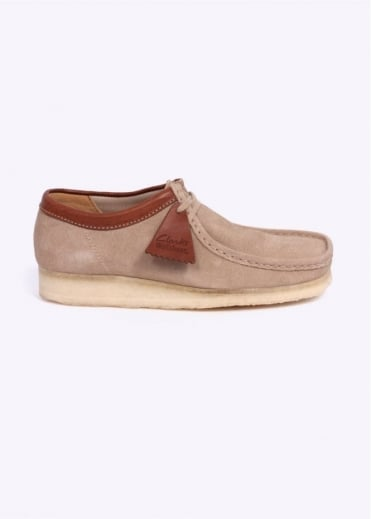 Clarks Originals Suede Wallabee Shoes - Sand