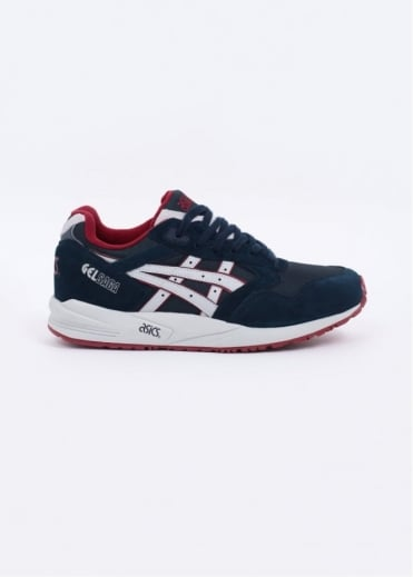 Asics Gel Saga 'Varsity' Trainers - Navy / Soft Grey