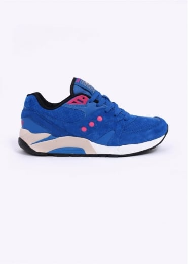 Saucony G9 Control Neon Nights Trainers - Bright Blue