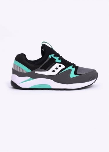 Saucony Grid 9000 Trainers - Grey / Black / Mint