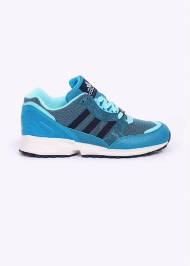 Adidas Originals Footwear EQUIPMENT RUNNING CUSHION 91 TRAINERS - Bold Aqua / Collegiate Navy / Bright Cyan