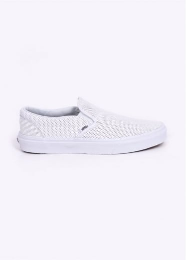 Vans Perforated Slip On Trainers - White