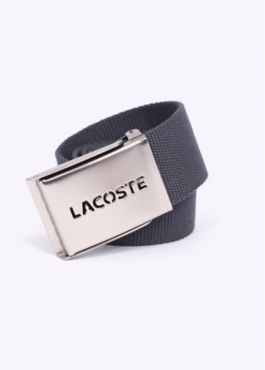 Lacoste Woven Belt - Gravity Grey