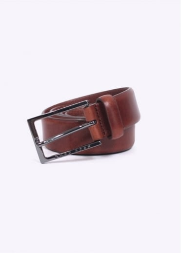 Hugo Boss Accessories / Boss Black - Ceddys Leather Belt - Open Brown