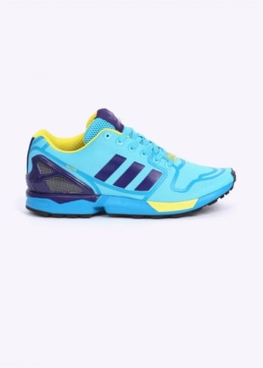 Adidas Originals Footwear ZX Flux TechFit Trainers - Cyan