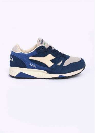 Diadora S8000 S ITA 'Made in Italy' Trainers - Blue Dark Denim