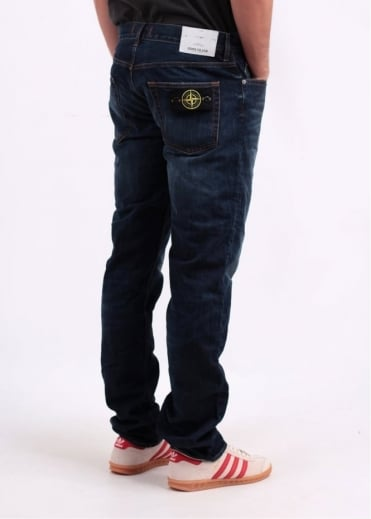 Stone Island Regular Tapered Jeans - Blue
