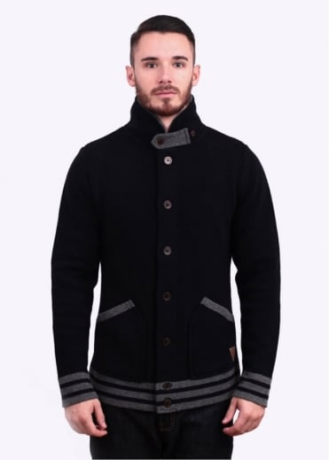 Barbour Dept. (B) Top-Deck Button Through Knitted Cardigan - Navy Blue
