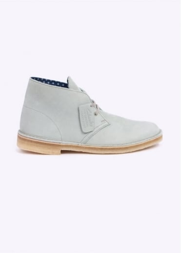 Clarks Originals Desert Boot Nubuck Shoe - Pale Green