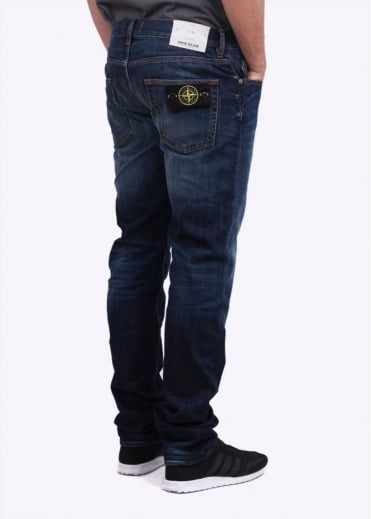 Stone Island J1BGA 13oz Regular Tapered Jeans - Wash Blue