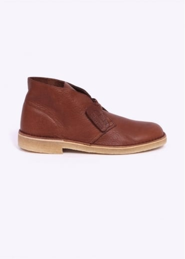 Clarks Originals Leather Desert Boot - Tan