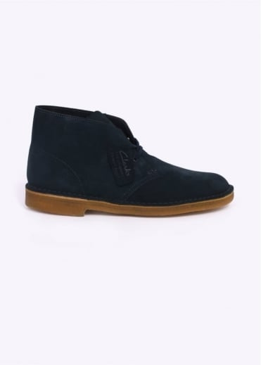 Clarks Originals Suede Desert Boot - Midnight