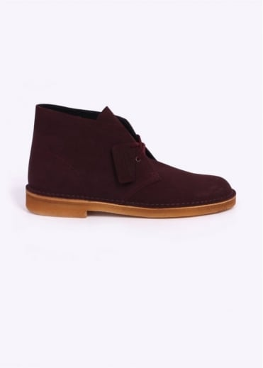 Clarks Originals Suede Desert Boot - Wine