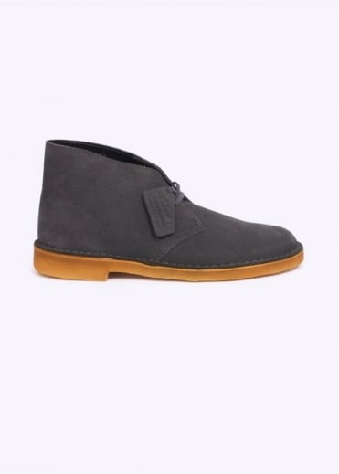 Clarks Originals Suede Desert Boot - Grey