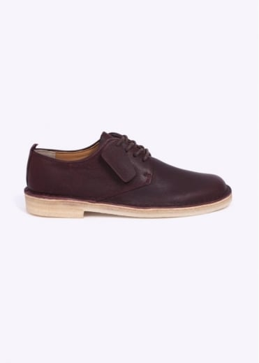 Clarks Originals Desert London Shoes - Wine Leather