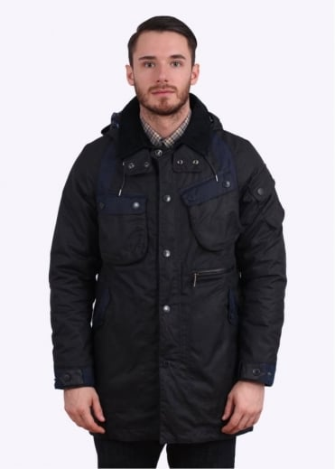 Barbour x White Mountaineering Bleakazuma Wax Jacket - Navy