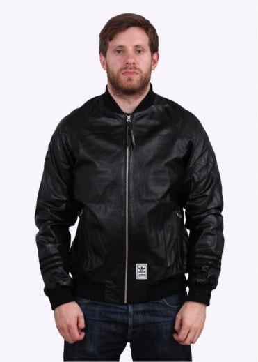 Adidas Originals x Neighborhood Leather TT Jacket - Black