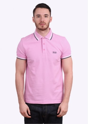Hugo Boss Green Paddy Polo Shirt - Light Pink